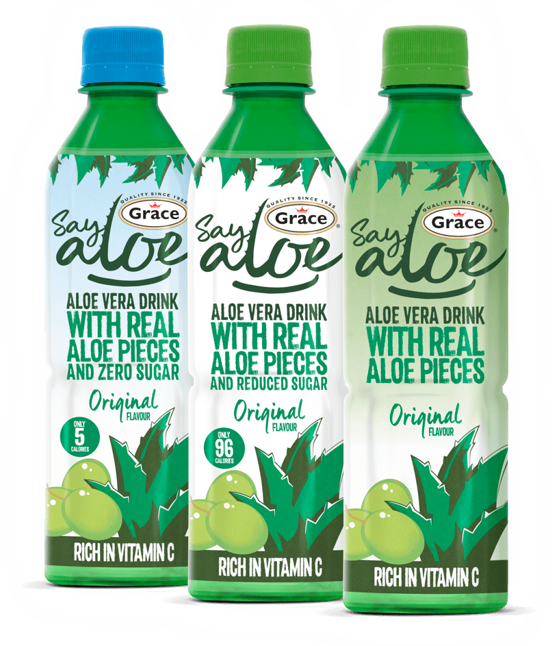 A Delicious Drink Made With Real Aloe Pieces